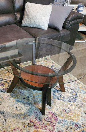 Glass coffee table with matching rnd taes. Asley for Sale in Glendale, AZ