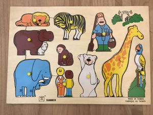 """Vintage SUMMCO Wood Puzzle """"ZOO"""" for Sale in Hillsboro, OR"""