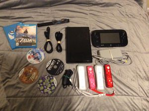 Nintendo Wii U Super Mario 3D World Deluxe Set 32GB Black Console for Sale in Suitland, MD