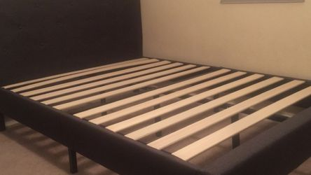 New Queen Size Bed Frame - Dark Gray for Sale in Fresno,  CA
