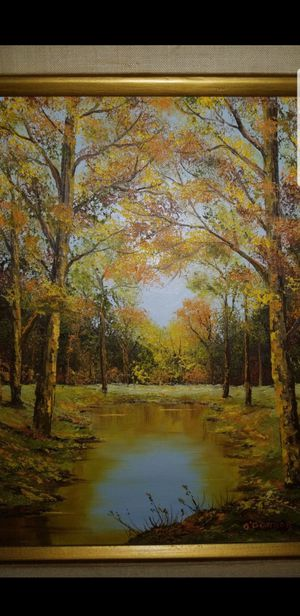 Framed painting of Autum forest for Sale in Elgin, IL
