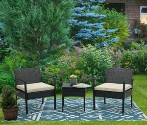 NEW 3 Piece Patio Furniture Set w/Chairs and Coffee Table and Cushions for Outdoor Areas of Home for Sale in Las Vegas, NV