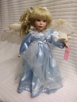 """Beautiful Porcelain Doll - """"Angel of Peace"""" Treasury Collection Premiere Edition - Original Box with Certificate of Authenticity (Muñeca de porcelana) for Sale in Miami Shores, FL"""
