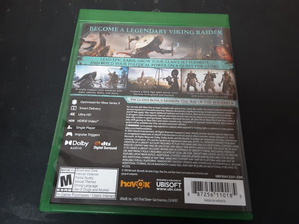 XBOX One XBOX SERIES X Assassins Creed Valhalla
