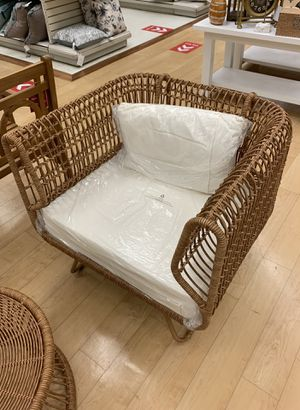 Gorgeous Designer Wicker Chair for Sale in Round Lake, IL