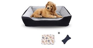 Dog Bed, Warming Puppy Sleeping Bag with Non-Slip Bottom, Cat Bed, Couch Pet Bed, Rectangle Cat Cushion Bed with Blanket, Plush Toy as Gift for Small for Sale in Norco, CA