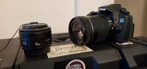 Canon 60d with kit lens 18-135 and 50mm 1.8 for Sale in Vallejo, CA