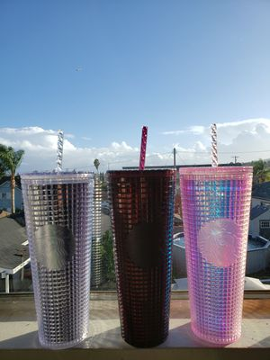 Starbucks limited silver black pink grid cold cup for Sale in Torrance, CA