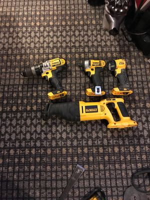 DeWALT 20 volt hammer drill impact and 18 volt sawzall. Tools only for Sale in Thurmont, MD