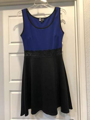 Black blue flared skirt tank top dress size large never worn for Sale in Tempe, AZ