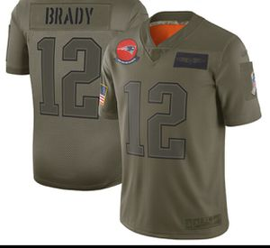 New England Patriots #12 Brady Salute Military Jersey for Sale in Manchester, CT