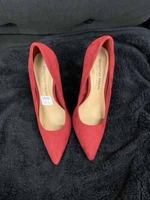 Red Suede Heel for Sale in Belleville, NJ