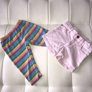 Carter's Toddler Girls Pink Shorts & Trolls Leggings Sz 5T for Sale in Las Vegas, NV