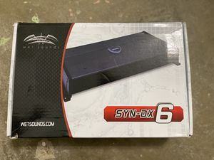 Wet sounds syn-dx6 amplifier for Sale in Houston, TX