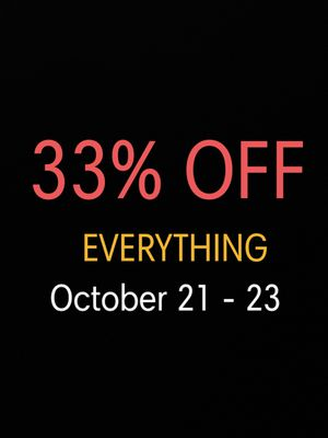 33% OFF Everything in Our Shop! Check Out Our Page! 3 DAYS ONLY!!! Oct. 21-23, 2020 for Sale in Las Vegas, NV