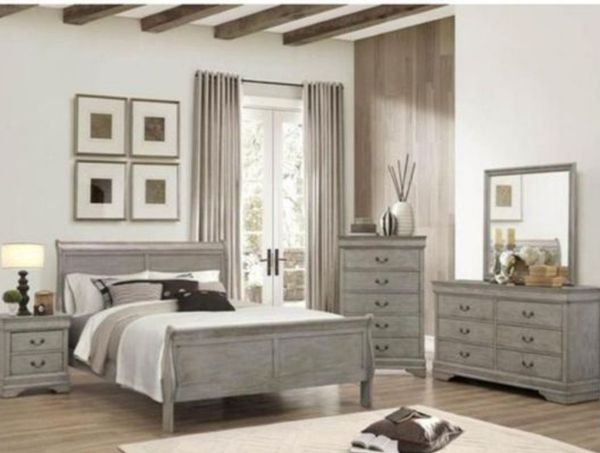 BRAND NEW TWIN FULL QUEEN BEDROOM SET INCLUDES BED FRAME DRESSER MIRROR AND NIGHTSTAND ADD MATTRESS ALL NEW FURNITURE BY USA MEXICO FURNITURE