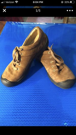 Keen brown women's shoes fits size 5.5-6 shoes sticker residue on inside sole for Sale in Portland, OR