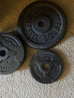 Non Olympic Weights ( Ez Bar Included ) for Sale in Gaithersburg,  MD
