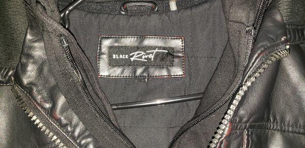 Black Rivet Leather Jacket