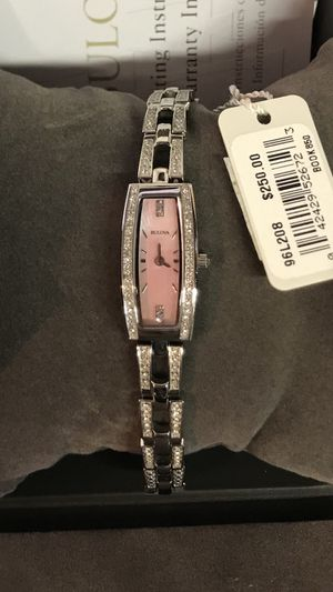 Bulova Women's Quartz Swarovski Crystal Pink Mother of Pearl 15mm Watch for Sale in Buena Park, CA