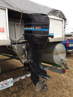 80 horse Mercury boat motor with controls. Runs but needs some work and has title for Sale in Stoutsville, MO
