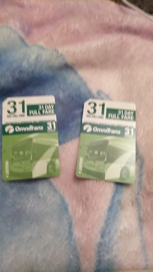 The monthly bus pass new for 1 $45 or both $95 for Sale in San Bernardino, CA