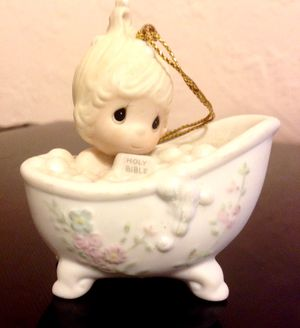 """PRECIOUS MOMENTS ORNAMENT """"HE CLEANSED MY SOUL"""" #112380 (1987) EUC for Sale in St. Petersburg, FL"""