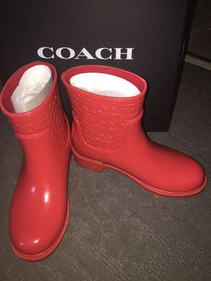 Woman's Coach rain boots for Sale in Houston, TX