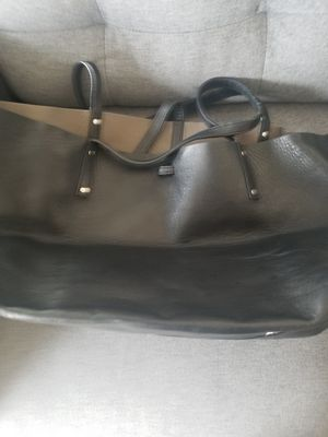 Tiffany leather black and gray reversible tote bag for Sale in Union, NJ