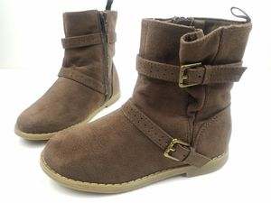 Old Navy Toddler Girl Buckle Zippered Boots Ankle Booties Brown Size 10 for Sale in Walton Hills, OH