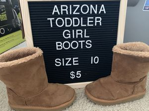 Arizona Toddler Girl Boots Size 10 for Sale in Lexington, SC