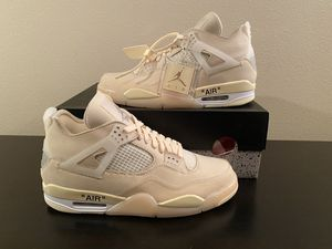 nike air Jordan retro 4 off white sail size 12w 10.5 men's ds new for Sale in Buckley, WA