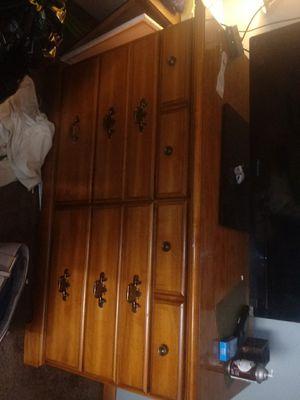 Solid oak dresser n vanity mirror for Sale in Salina, KS