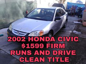 2002 HONDA CIVIC RUNS AND DRIVE GOOD for Sale in Las Vegas, NV
