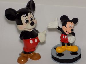 2 Disney Mikey Mouse Figurines DEFECTED for Sale in El Cajon, CA
