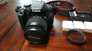Canon EOS Rebel T3i Digital SLR Camera with EF-S 18-55mm f/3.5-5.6 IS Lens for Sale in Lawrenceville, GA