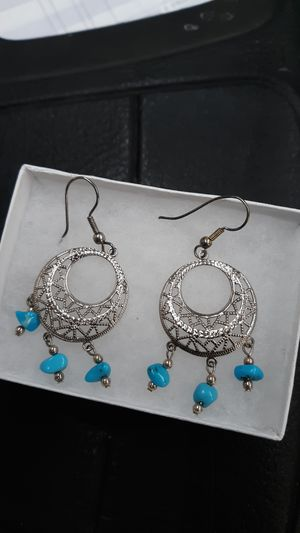 Silver and turquoise earring set for Sale in Millersville, MD