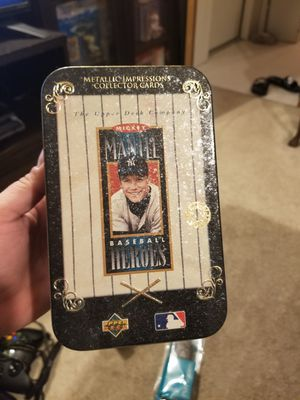 Mickey mantle baseball heroes metal card set of 10 for Sale in Hanover, MD