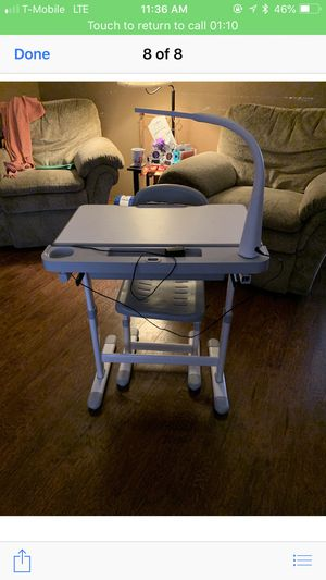 Kid desk with electric light for Sale in Fort Worth, TX