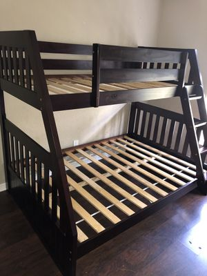 Twin over full size bunk bed frame new in the box and free shipping for Sale in Hialeah, FL