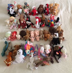 TY Beanie Babies ASSORTED Collection (66 Pieces) - Adult Owned Collection. EXCELLENT CONDITION / CLEAN / ALL RETIRED. for Sale in Stockton, CA