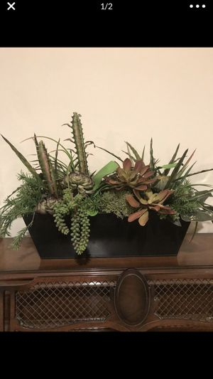 Large fake succulent arrangement. Perfect for any place in your home or office or even as a gift for anyone who loves fake plants and succulents. Com for Sale in Gardena, CA