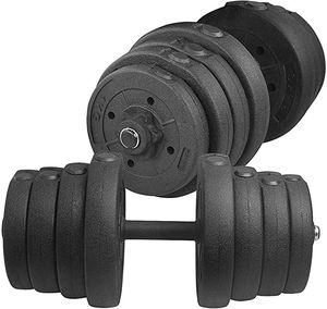 Adjustable 66LB Dumbbell Weight Set Barbell Lifting for Sale in Wormleysburg, PA