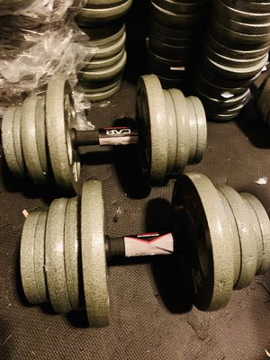 50 lbs each adjustable dumbbell set ( we make them to any size) for Sale in Davie, FL