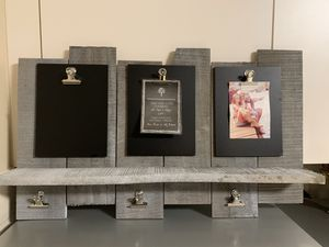 "New Three panel rustic chalkboard with clips & ledge 25""x 15"" for Sale in Miramar, FL"