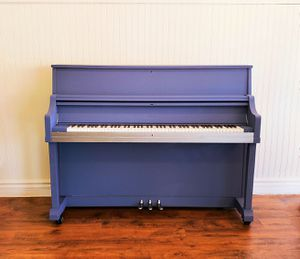 "Kawai Studio Piano in ""Midnight Ocean and Silver"" for Sale in Mesa, AZ"