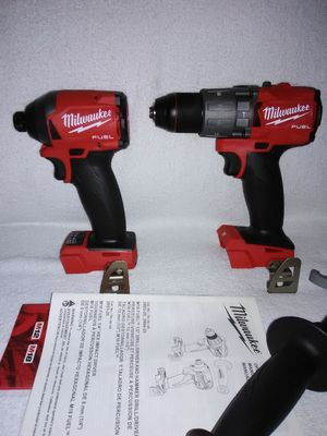 """New Milwaukee M18 Brushless Fuel 1/2"""" Hammer Drill-Driver and 1/4"""" Hex Impact. for Sale in Quail Valley, CA"""
