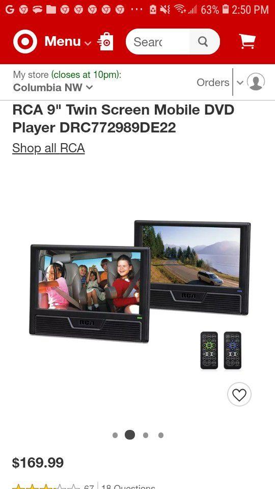 Duel DVD headrest monitors x2