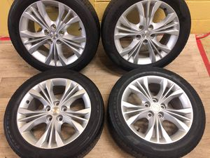 18 Chevy impala wheels and tires 5x120 bolt pattern Package deal for Sale in Macomb, MI