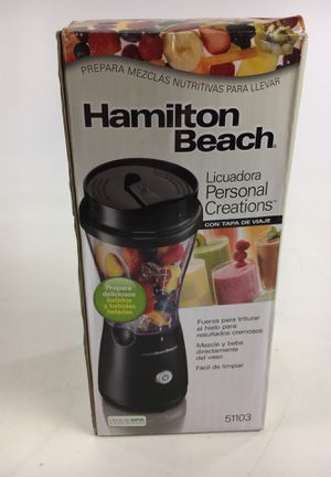 Hamilton Beach Personal Creations Blender with Travel Lid New for Sale in Cleveland, OH